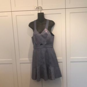 Brand new smoke grey dress from Rebecca Taylor